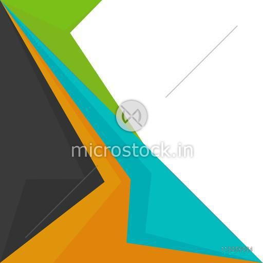 Abstract design of dark colors on white background.