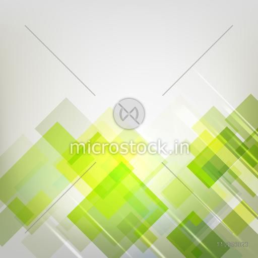 Green abstract design from bottom on grey background.