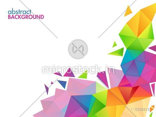 Creative abstract colorful polygonal background.