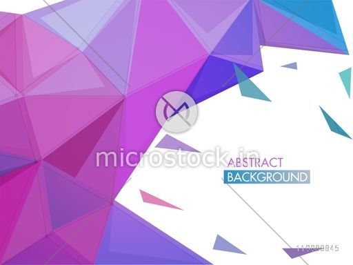 Creative abstract geometric background with low poly elements.