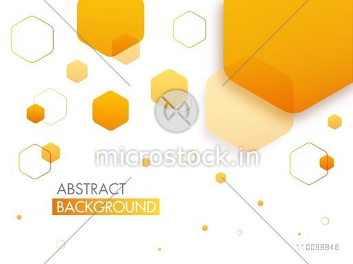 Creative abstract geometric background with hexagonal shapes.