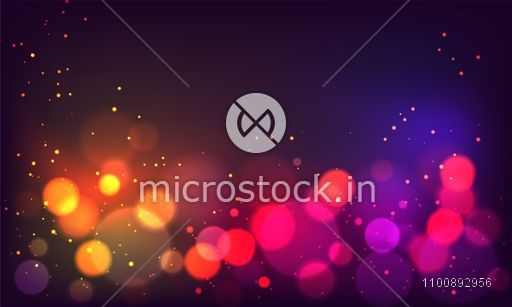 Defocused colorful abstract bokeh background.