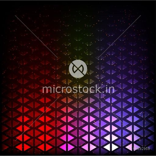 Seamless colorful abstract geometric background with triangles.