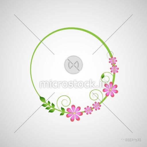 Beautiful floral design decorated frame with space.