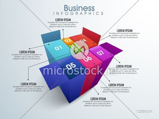 Creative Business Infographic layout with 3D colorful element for your professional presentation.