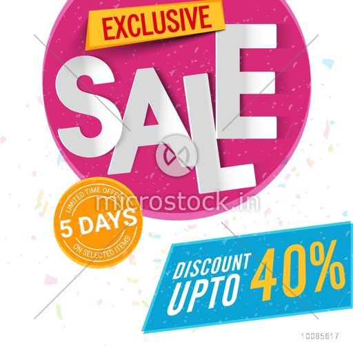 Exclusive Sale Poster Banner or Flyer design Discount Upto 40 – Sale Flyer Design