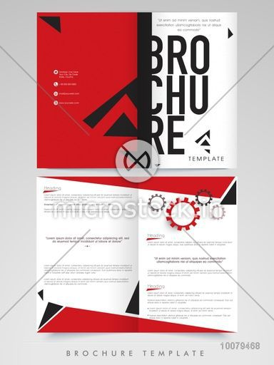 Creative professional Brochure, Template or Flyer design with front ...