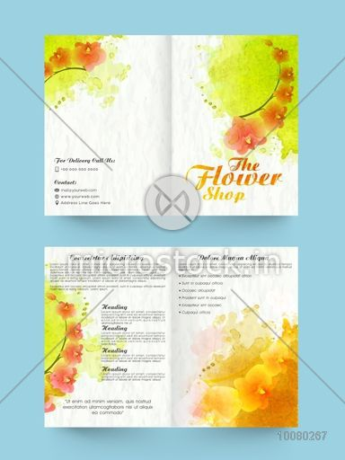 Beautiful Flowers Decorated Two Page Professional Brochure
