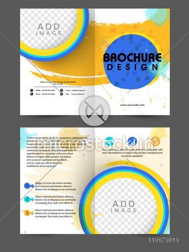 creative two page brochure template or flyer design with space to