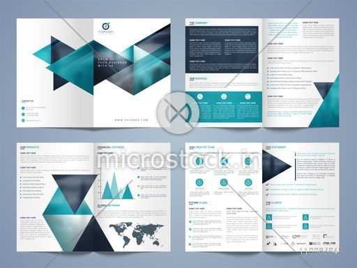 Creative Professional Business Brochure Set with Cover, Inner or Back Pages Presentation.