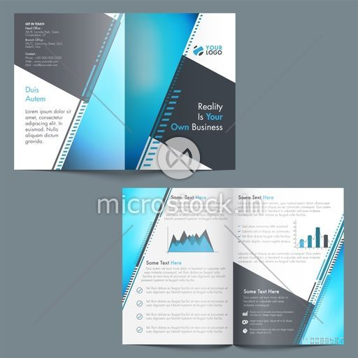 professional brochure template design with statistical elements for
