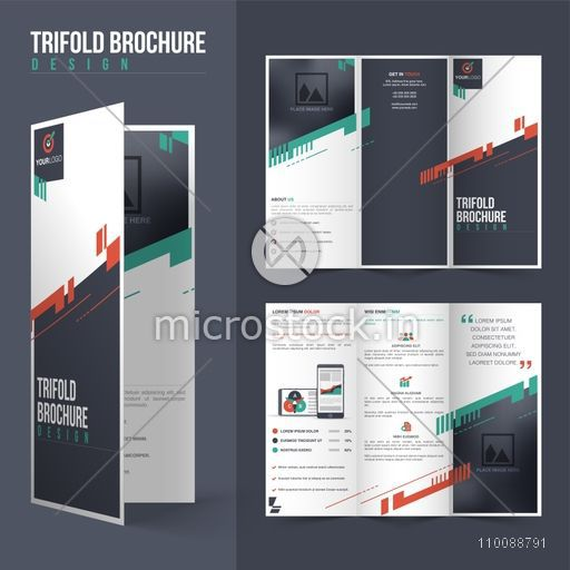Front and back page presentation of Professional Tri-Fold Brochure design with space to add your image.