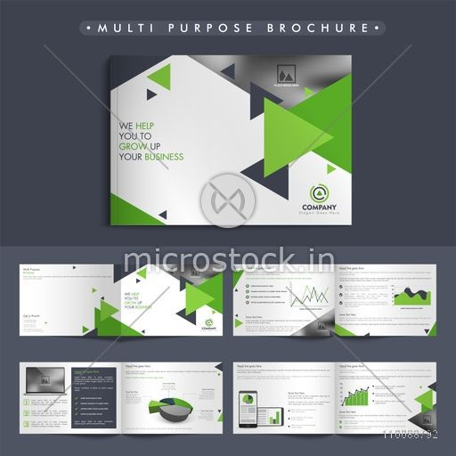 Abstract multi purpose, Business Brochure, Cover Design with front, inner and back pages presentation.
