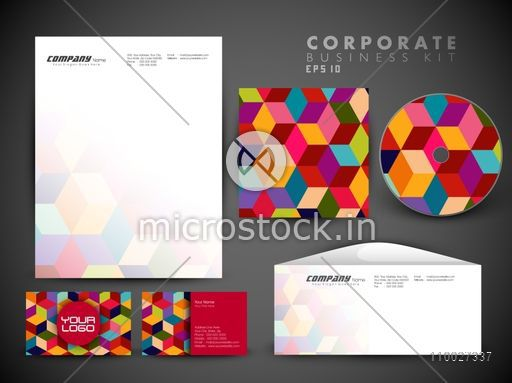 Creative corporate identity kit include cd cover letterhead creative corporate identity kit include cd cover letterhead business card and envelope with colorful reheart Images