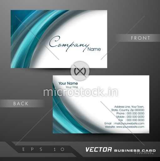 Business card name card call card or visiting card set with glossy business card name card call card or visiting card set with glossy abstract waves reheart Images