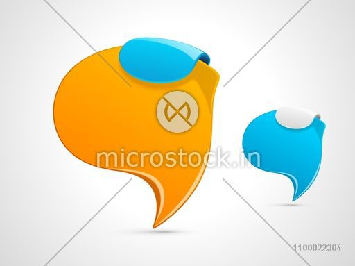 Blank speech bubbles for your business.