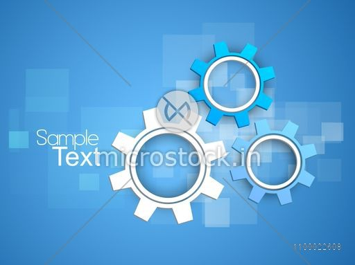 3d Creative Cogwheel Gear Or Setting Symbol For Business Concept