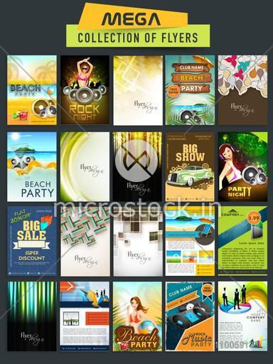 Mega collection of creative Flyers based on different concept.