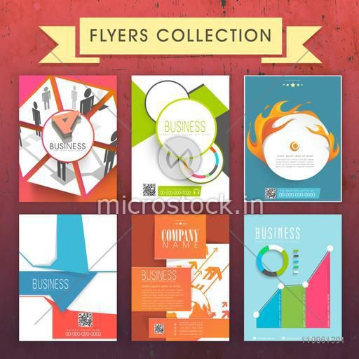 Set of creative professional Flyers, Templates or Brochures design for your business reports and presentation.