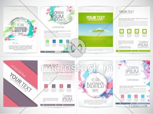 Set of four Business flyers with front and back side presentation for your corporate needs.