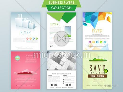 Stylish business and ecological flyer collections, can be used as professional presentation and reports.