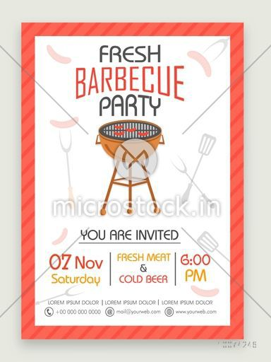 Stylish one page Flyer, Banner or Template for Fresh Barbecue Party celebration.