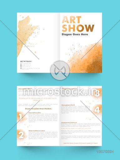 creative abstract two page brochure template or flyer design for
