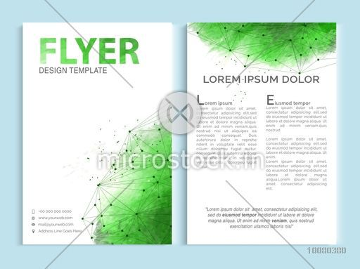 Creative professional one page business flyer banner for Small brochure template