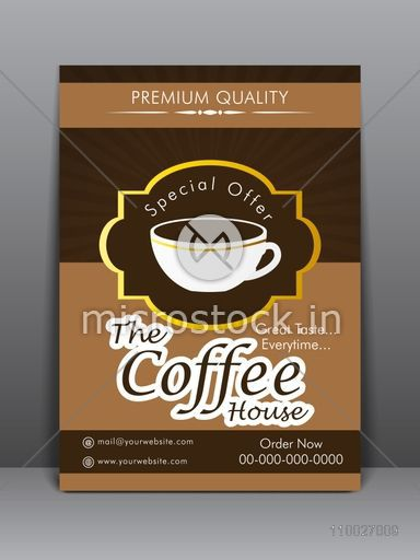 Creative Stylish Flyer Template Or Menu Card Design For Coffee Shop