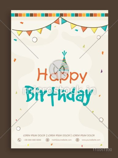 Happy birthday invitation card design decorated with colorful happy birthday invitation card design decorated with colorful buntings stopboris Image collections