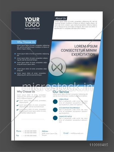 Professional One Page Business Flyer, Banner, Template or Cover Design.