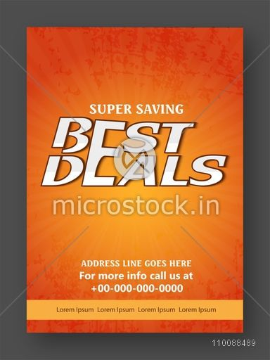 Super Saving, Sale Flyer, Banner, Pamphlet or Poster design.