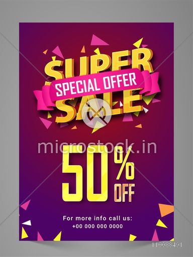 Super sale flyer poster banner or pamphlet with special for Style at home special offer