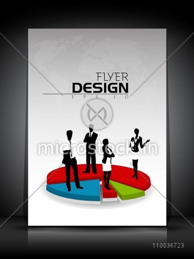 Professional Flyer Template Banner Or Corporate Brochure With