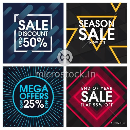 Set of different Sale and Discount Poster Banner or Flyer design – Sale Flyer Design