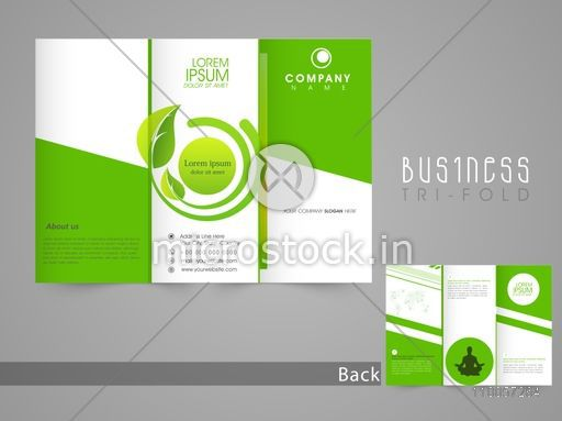 Stylish Save Nature Brochure Tri Fold Or Template Design With Front And Back Page Presentation