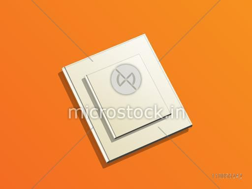 Illustration of two books with grey cover on orange background.