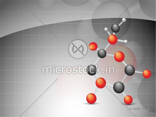 Creative molecules on abstract grey background for Health and Medical concept.