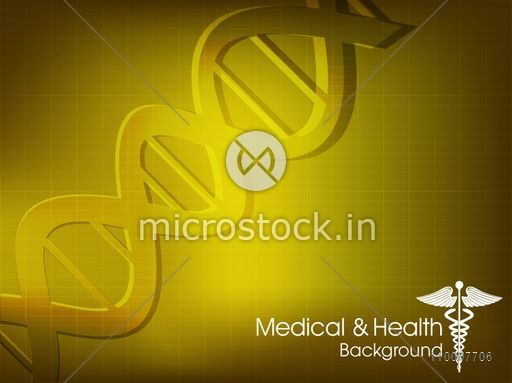 Creative illustration of DNA on shiny background for Health and Medical concept.