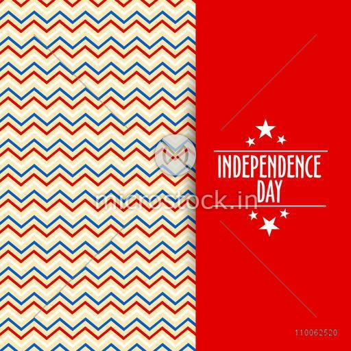Beautiful greeting or invitation card design for American Independence Day celebration.
