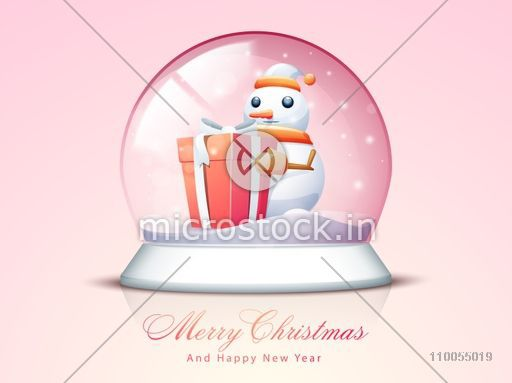 Illustration Of An Empty Snow-dome. Vector Royalty Free Cliparts, Vectors,  And Stock Illustration. Image 5772196.