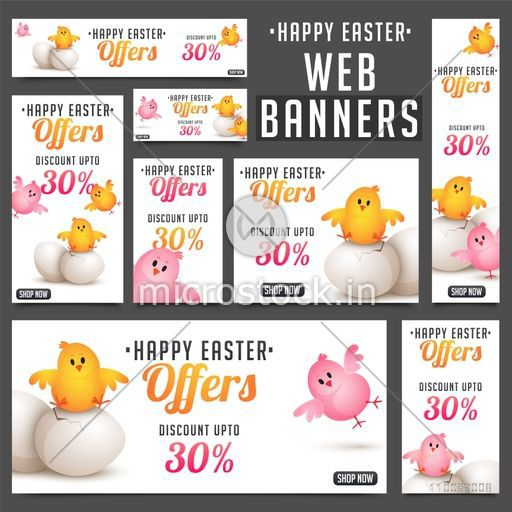 Social Media banner set for Easter celebrations.