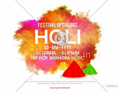 Abstract colorful splash decorated banner, poster design for Indian Festival of Colors, Holi Party celebration.