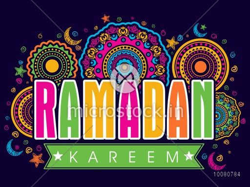 Elegant colourful greeting card with stylish text ramadan kareem on elegant colourful greeting card with stylish text ramadan kareem on beautiful traditional floral design decorated background m4hsunfo
