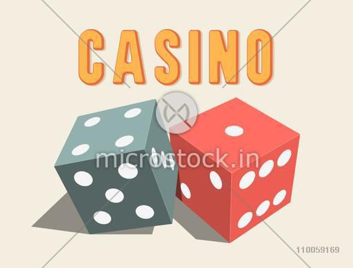 Stylish shiny 3D dices for Casino.