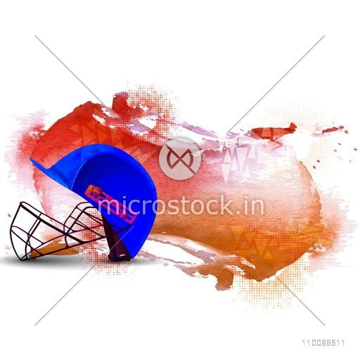 Batsman Helmet on abstract background for Cricket Sports concept.
