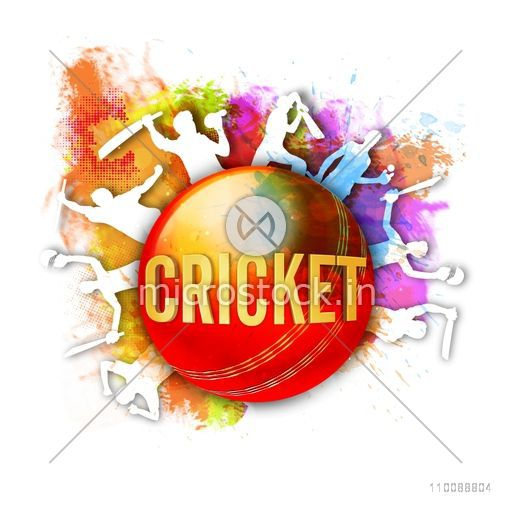 Abstract Sports background with illustration of Cricket Players expressing their emotions in different pose.