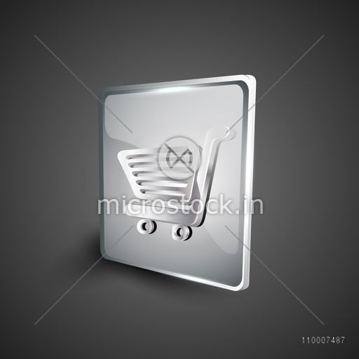 Glossy red 3D web 2.0 shopping cart symbol icon set. EPS 10.
