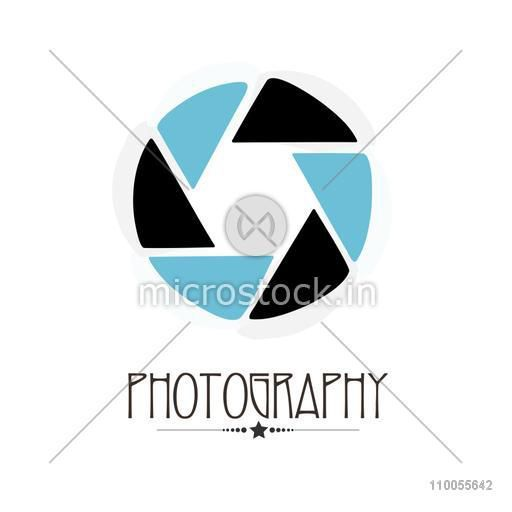 Stylish camera shutter on white background for photography concept.