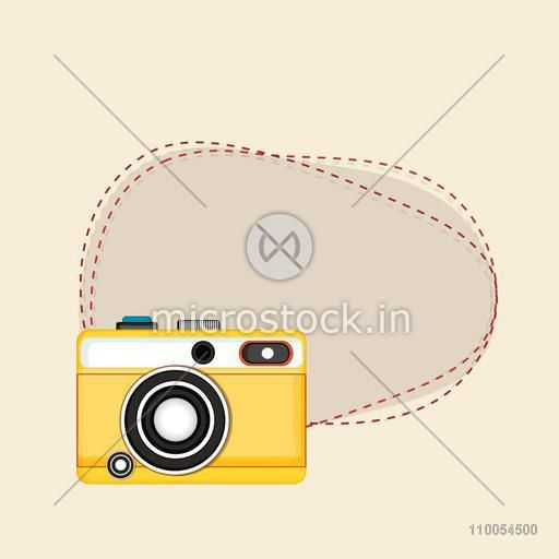 Stylish retro camera design with space for your message or text.